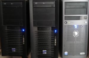 si, son equipos de sobremesa pero con doble procesador, la memoria a tope y sus discos duros en RAID 1