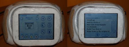 """A la izquierda, el administrador de aplicaciones con el juego """"Missile Game 3D"""" seleccionado. En la hilera de botones más a la derecha hay uno, en el centro, con una nota musical. A la derecha, el reproductor que se activa al pulsar el botón y que permite escuchar música en streaming"""