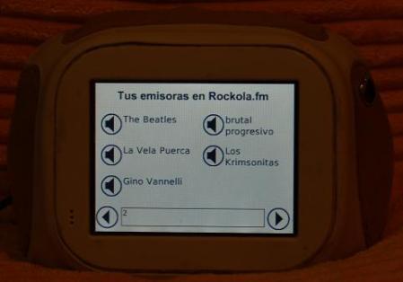 Elección entre las emisoras propias del rockolero