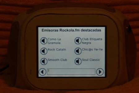 Selección entre las emisoras destacadas propias de Rockola.fm