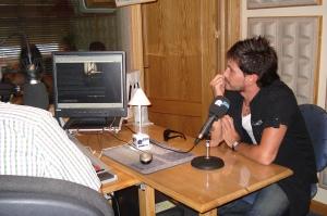 David de María en los estudios Rockola