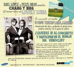 Flyer Lovely Luna Rockola.fm Samsung